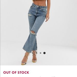 ASOS high waist cropped flare jeans
